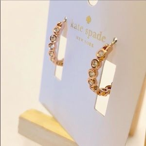 Kate Spade FULL CIRCLE ROSEGOLD HOOP EARRINGS BNWT